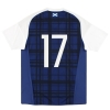 2016-17 Scotland adidas Player Issue Home Shirt #17