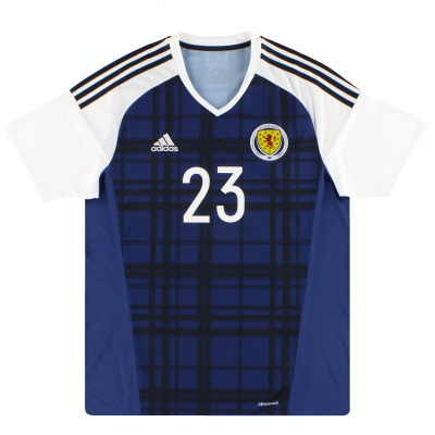 2016-17 Scotland adidas Player Issue Home Shirt #23 XL