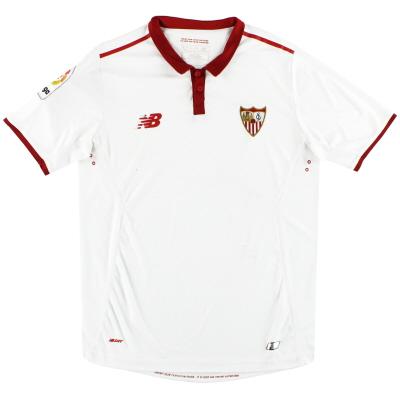 2016-17 Sevilla New Balance Home Shirt S