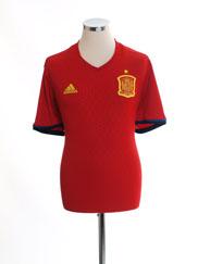 2016-17 Spain Home Shirt *Mint* L