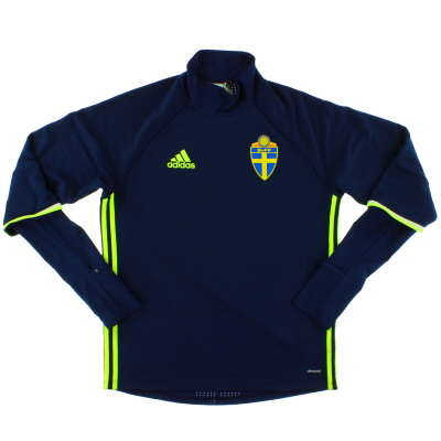 2016-17 Sweden adidas Training Top *Mint* M