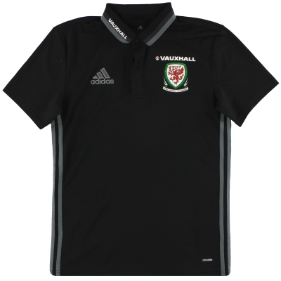 2016-17 Wales adidas Player Issue Polo Shirt *Mint* S