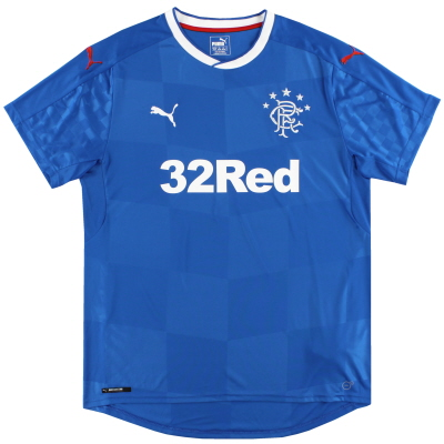 2016-18 Rangers Puma Home Shirt *Mint* XL