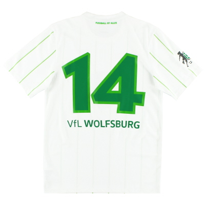 2016-18 Wolfsburg Match Issue Away Shirt #14 S