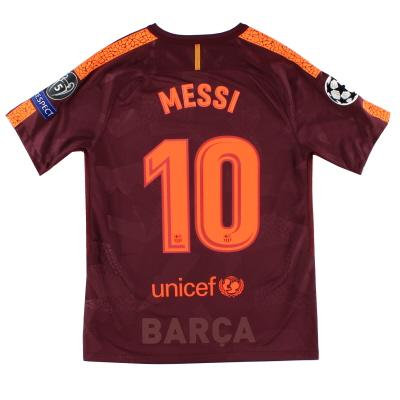 2017-18 Barcelona Champions League Third Shirt Messi #10 *Mint* M