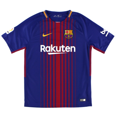 2017-18 Barcelona Home Shirt M.Boys