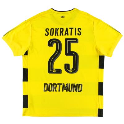 2017-18 Borussia Dortmund Home Shirt Sokratis #25 XL