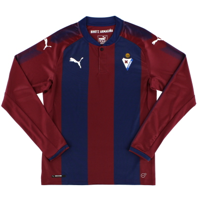 2017-18 Eibar Home Shirt L/S *Mint* S