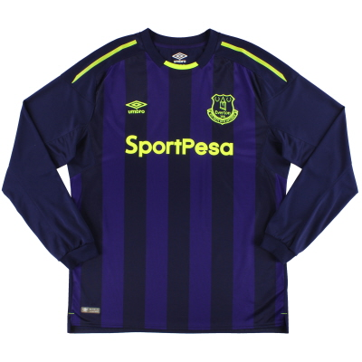 2017-18 Everton Umbro Third Shirt L/S *As New* XL
