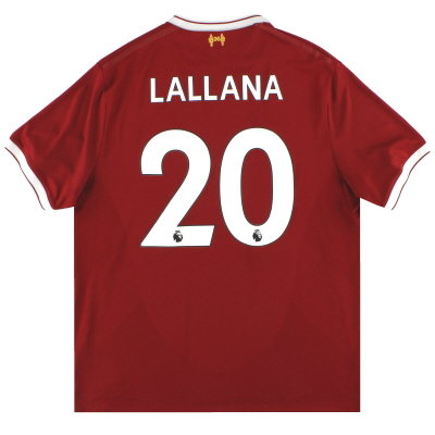 2017-18 Liverpool New Balance '125 Years' Home Shirt Lallana #20 XL