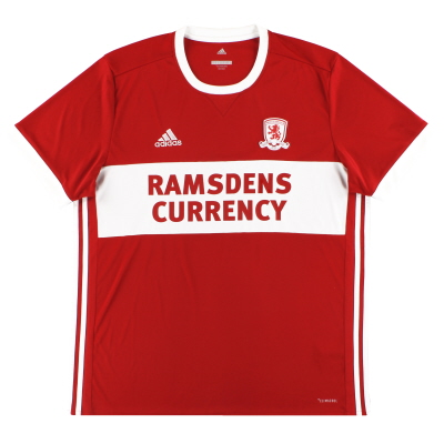 2017-18 Middlesbrough adidas Home Shirt XL
