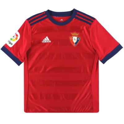 2017-18 Osasuna adidas Home Shirt L.Boys
