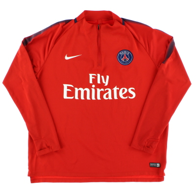 2017-18 Paris Saint-Germain Nike 1/4 Zip Training Top XL