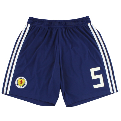 2017-18 Scotland adidas Player Issue Home Shorts #5 *As New* M