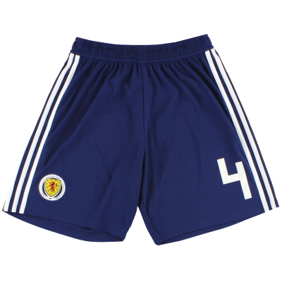 2017-18 Scotland adidas Player Issue Home Shorts #4 *As New* M