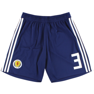 2017-18 Scotland adidas Player Issue Home Shorts #3 *As New* M