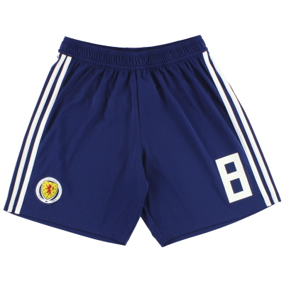 2017-18 Scotland adidas Player Issue Home Shorts #8 *As New* M