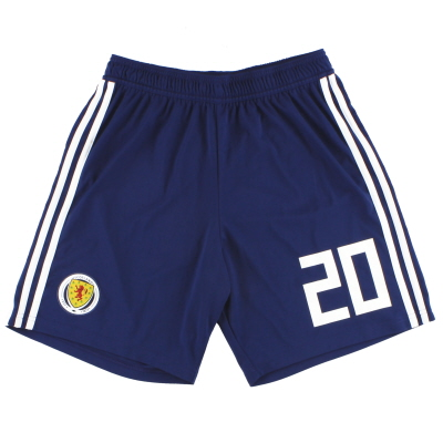 2017-18 Scotland adidas Player Issue Home Shorts #20 *As New* M