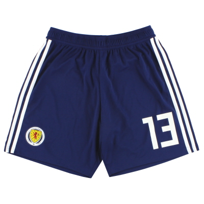 2017-18 Scotland adidas Player Issue Home Shorts #13 *As New* M