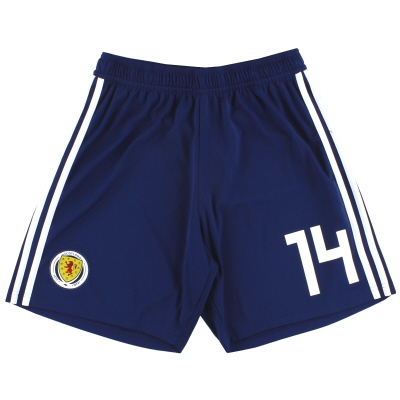 2017-18 Scotland adidas Player Issue Home Shorts #14 *As New* M