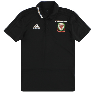 2017-18 Wales adidas Player Issue Polo Shirt *Mint* S