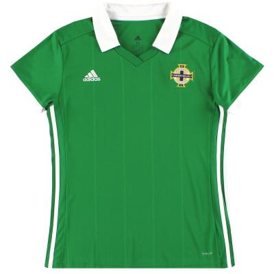 2017-19 Northern Ireland adidas Home Shirt *Mint* Women's M