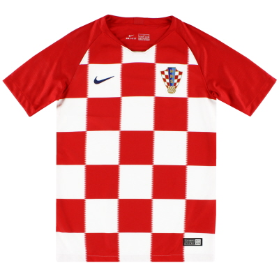 2018-19 Croatia Home Shirt *As New* M.Boys