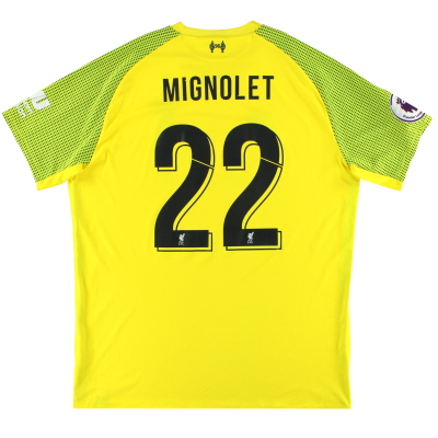 2018-19 Liverpool New Balance Goalkeeper Shirt  Mignolet #22 XL