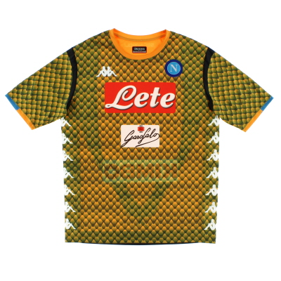 2018-19 Napoli Kombat Goalkeeper Shirt *Mint* L