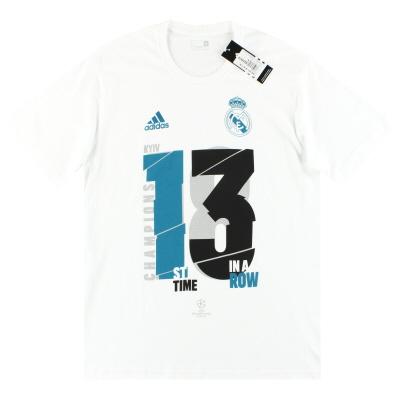 "2018 Real Madrid adidas ""13th Winners"" Tee *BNIB*"