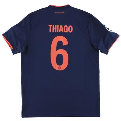 2019-20 Bayern Munich adidas CL Third Shirt Thiago #6 *Mint* L
