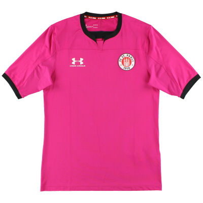 2019-20 St Pauli Under Armour Pink Goalkeeper Shirt *As New* L