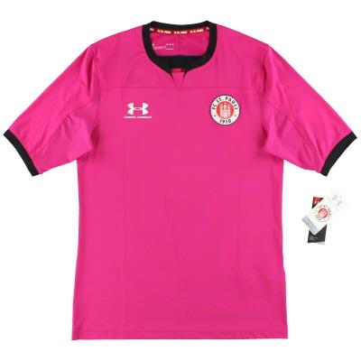 2019-20 St Pauli Under Armour Pink Goalkeeper Shirt *w/tags* XL