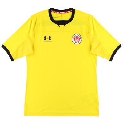 2019-20 St Pauli Under Armour Yellow Goalkeeper Shirt *As New*