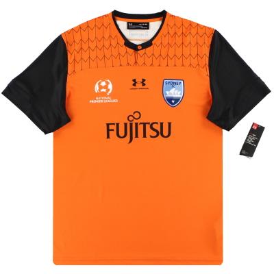 2019-20 Sydney FC Under Armour Player Issue Orange Goalkeeper Shirt *w/tags* XL