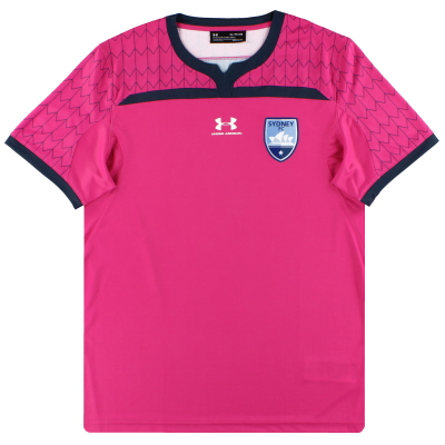 2019-20 Sydney FC Under Armour Player Issue Pink Goalkeeper Shirt *As New* L