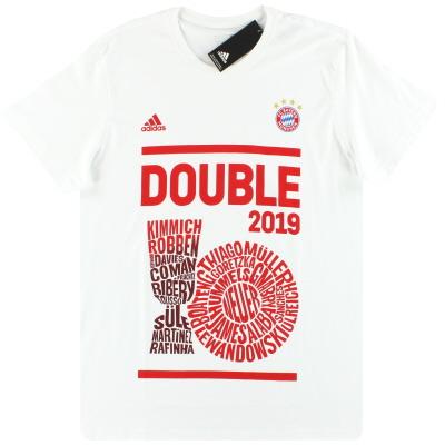 2019 Bayern Munich adidas Double Winners Tee *BNIB* S