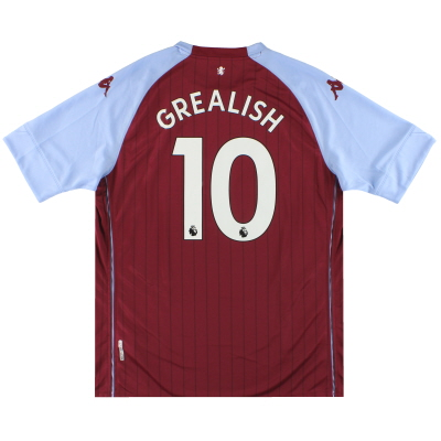 2020-21 Aston Villa Kappa Kombat Home Shirt Grealish #10 *w/tags* XXL