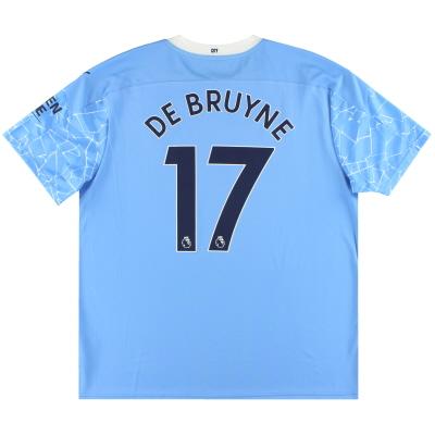 2020-21 Manchester City Puma Home Shirt De Bruyne #17 *As New* XXL